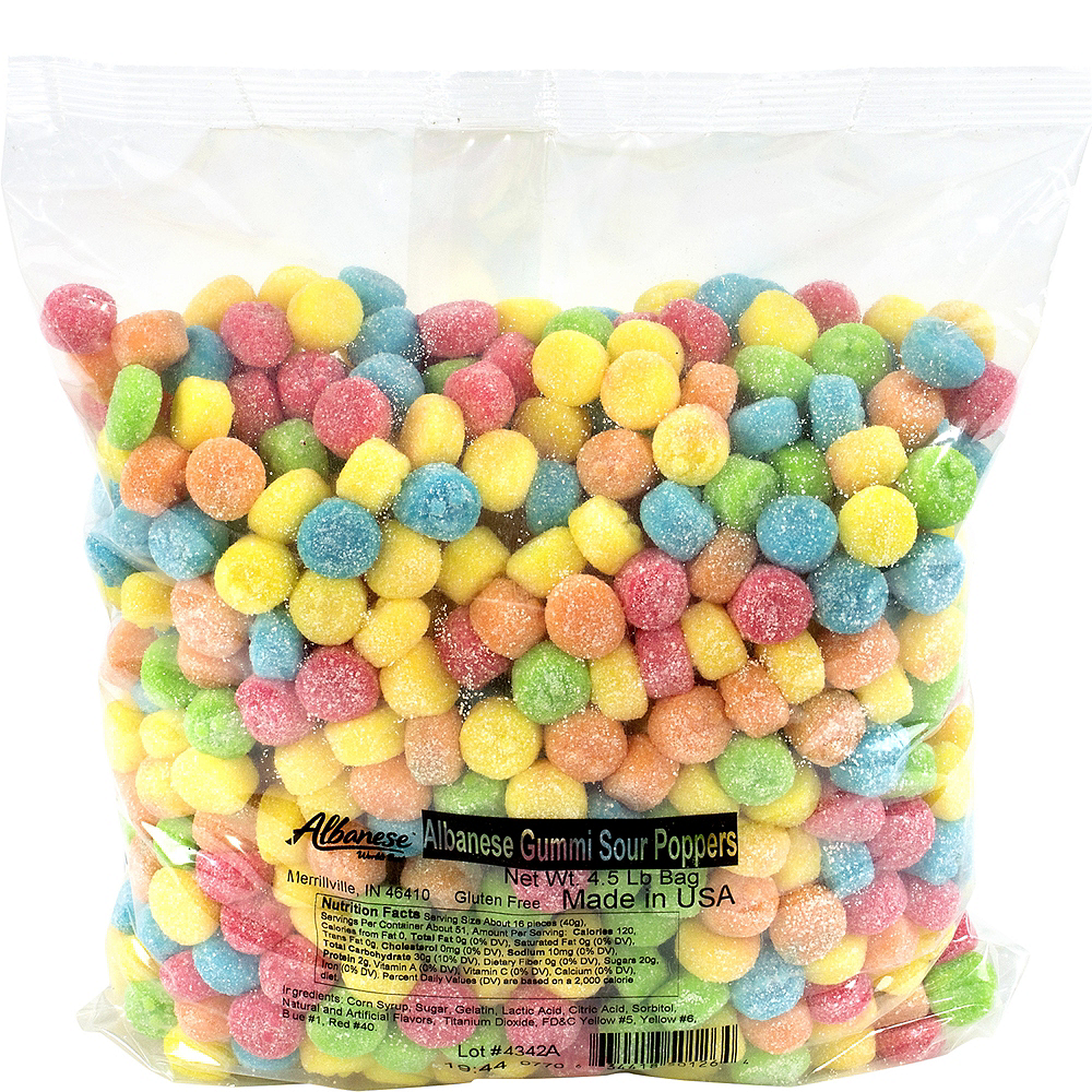 Assorted Sour Gummi Poppers 4.5lb Image #1