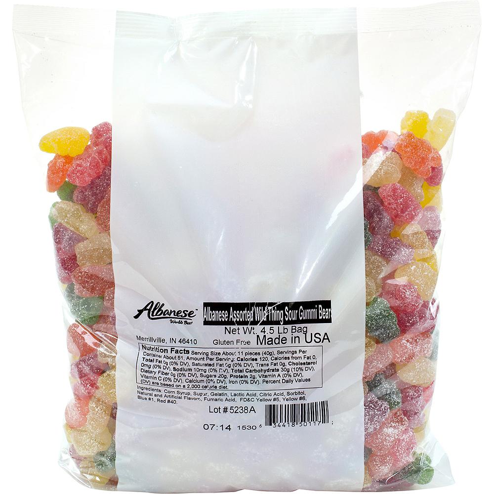 Assorted Sour Gummi Bears 4.5lb Image #1