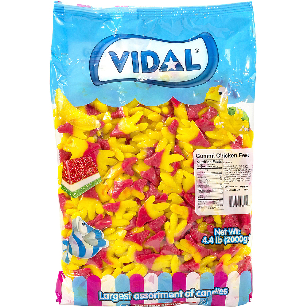 Vidal Gummi Chicken Feet 4.4lb Image #1