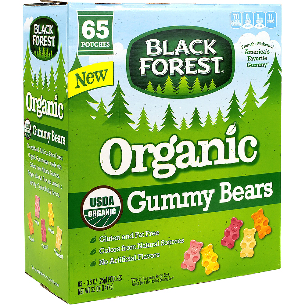 Black Forrest Gummy Bears Pouches 65ct Image #1