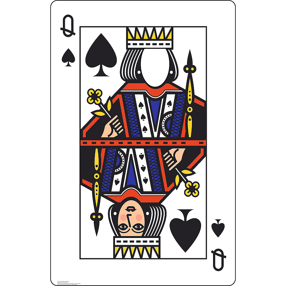 Queen of Spades Playing Card Photo Standee Image #1