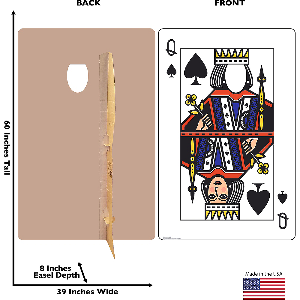 Queen of Spades Playing Card Photo Standee Image #2