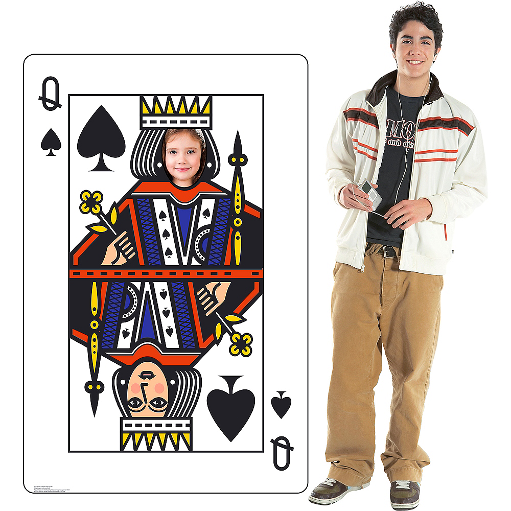 Queen of Spades Playing Card Photo Standee Image #3
