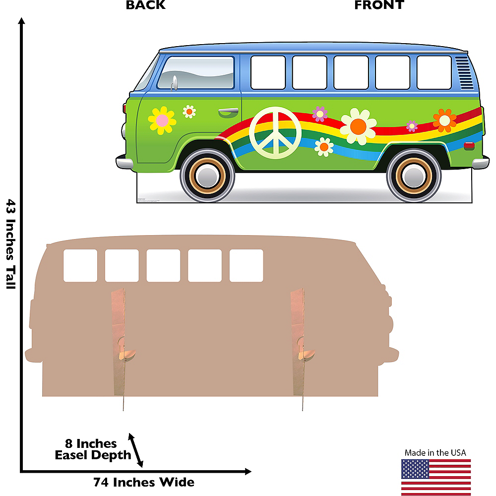 Hippie Bus Photo Standee Image #2
