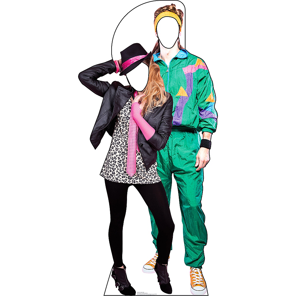Totally 80s Couple Life-Size Photo Cardboard Cutout Image #1