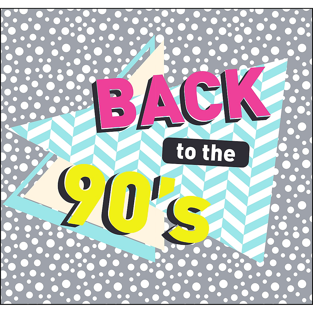 Back to the 90s Backdrop Standee 2pc Image #1