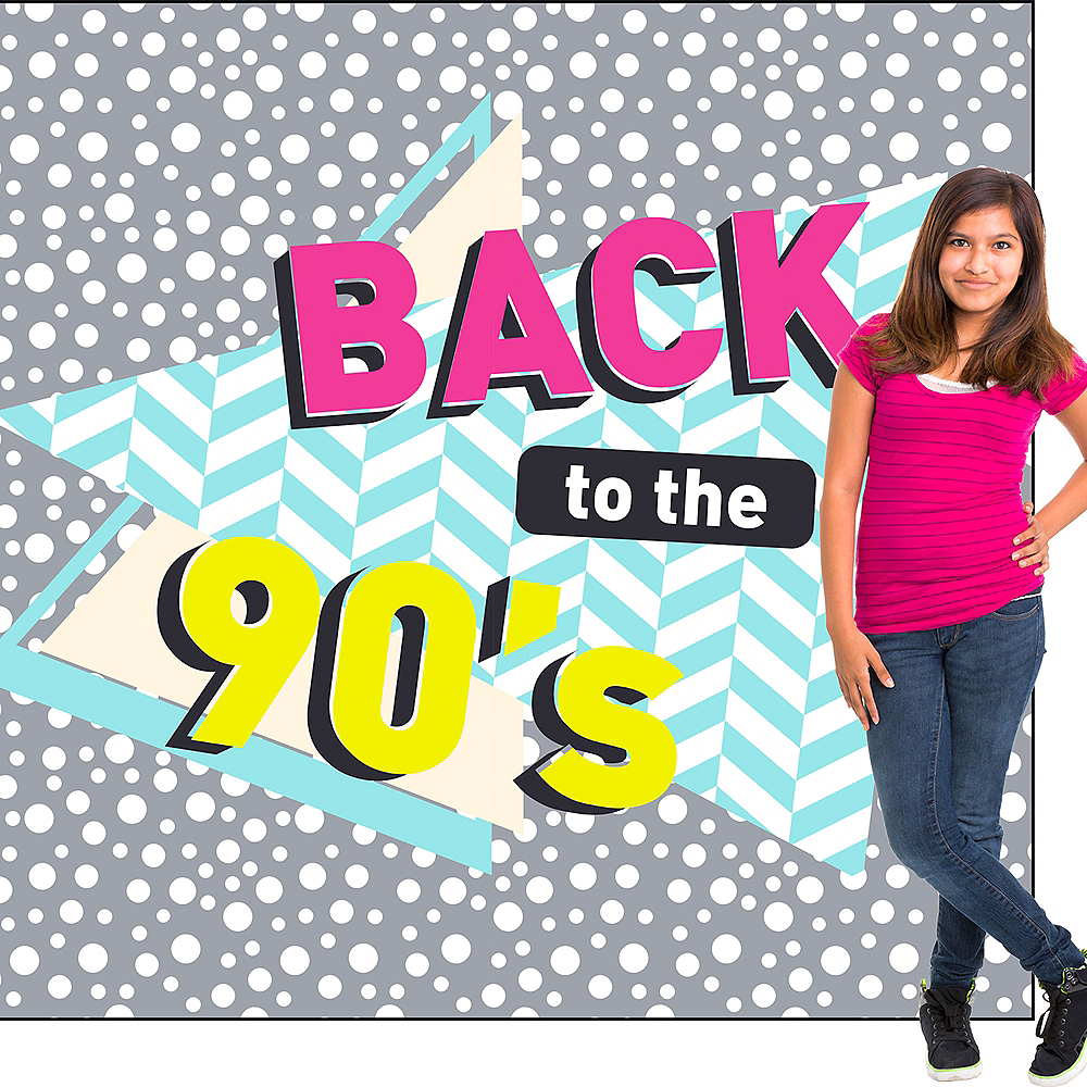 Back to the 90s Backdrop Standee 2pc Image #3
