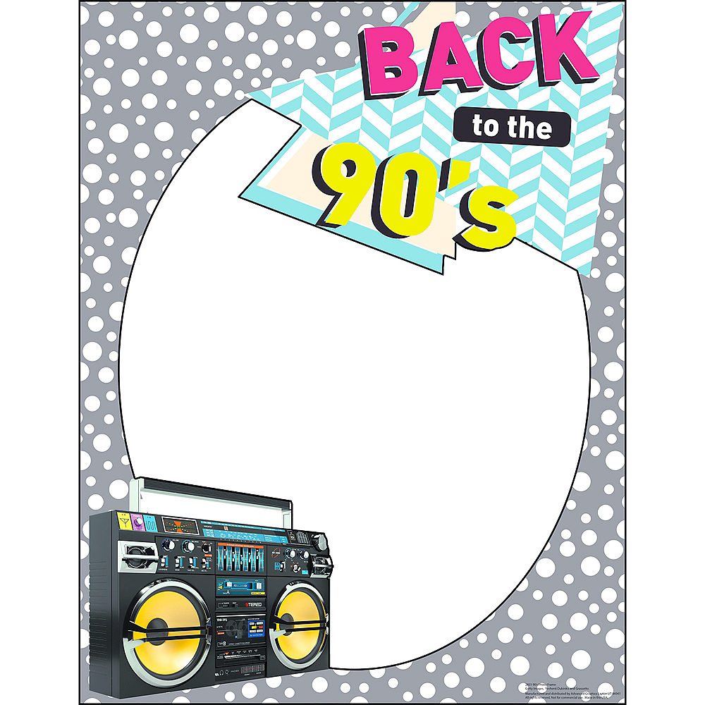 Back to the 90s Photo Frame Image #1