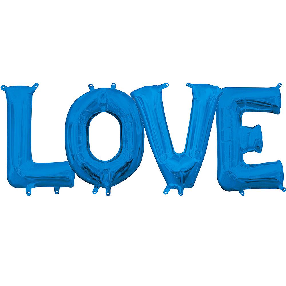 Air-Filled Blue Love Balloon Kit Image #1