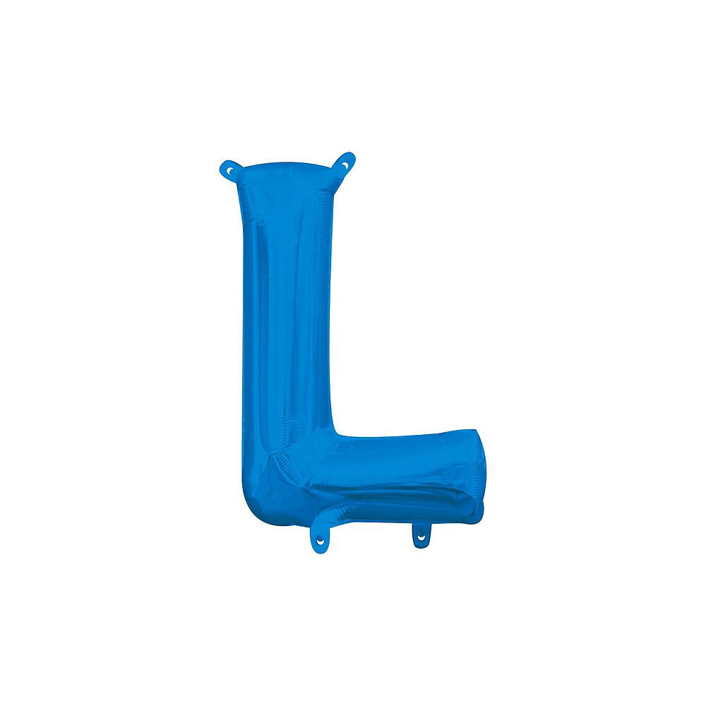 Air-Filled Blue Love Balloon Kit Image #4