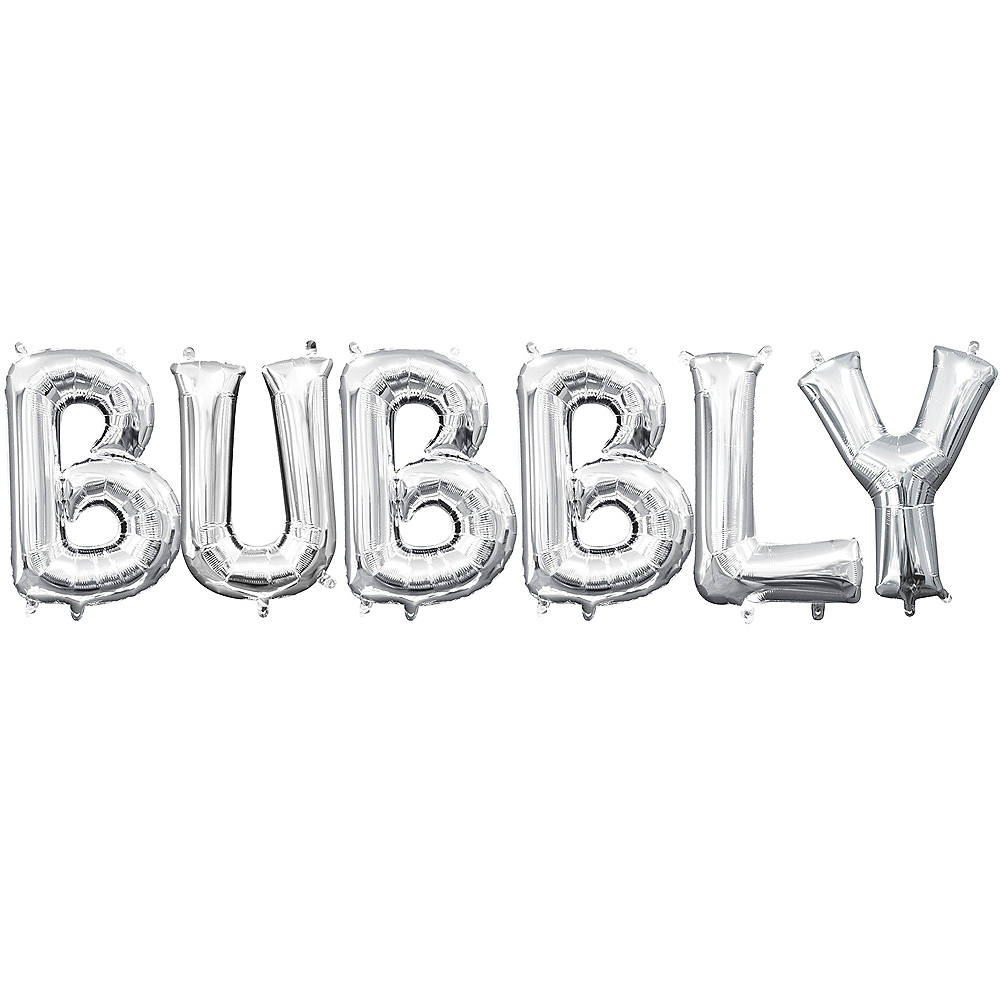 Air-Filled Silver Bubbly Balloon Kit Image #1