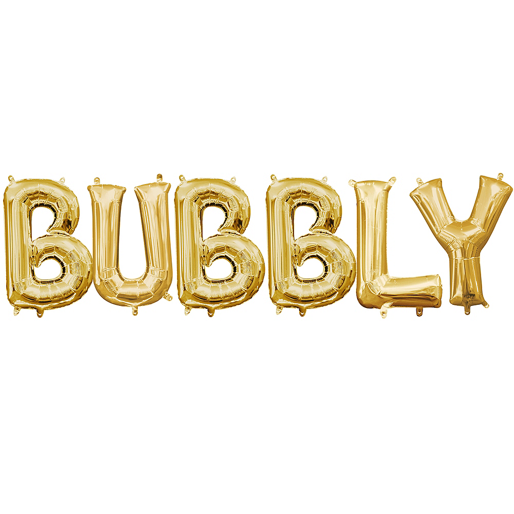 Air-Filled Gold Bubbly Balloon Kit Image #1