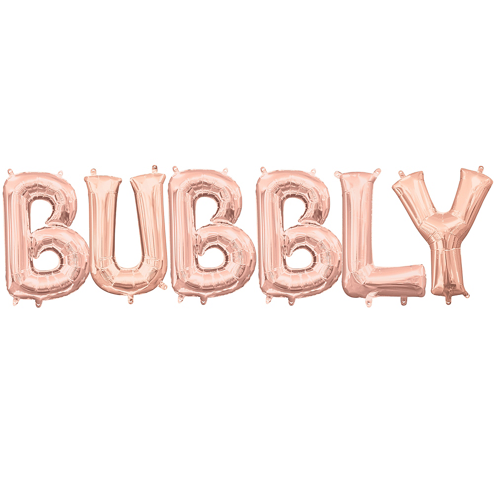 13in Air-Filled Rose Gold Bubbly Balloon Kit Image #1