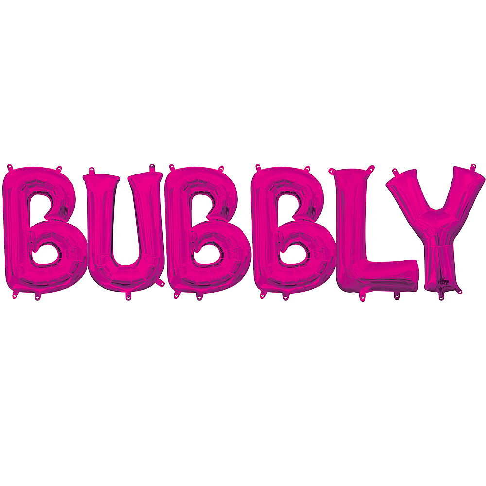 Air-Filled Pink Bubbly Balloon Kit Image #1