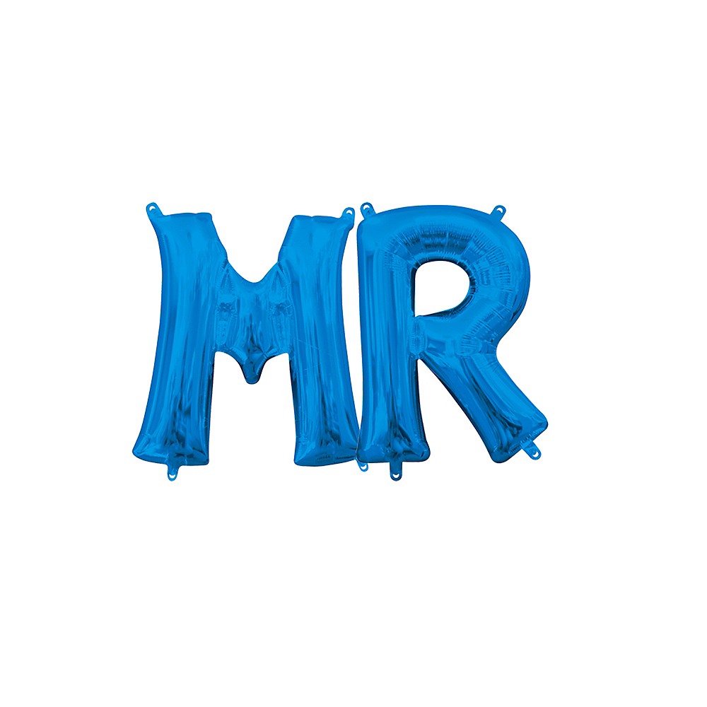 Air-Filled Blue Mr. Balloon Kit Image #1