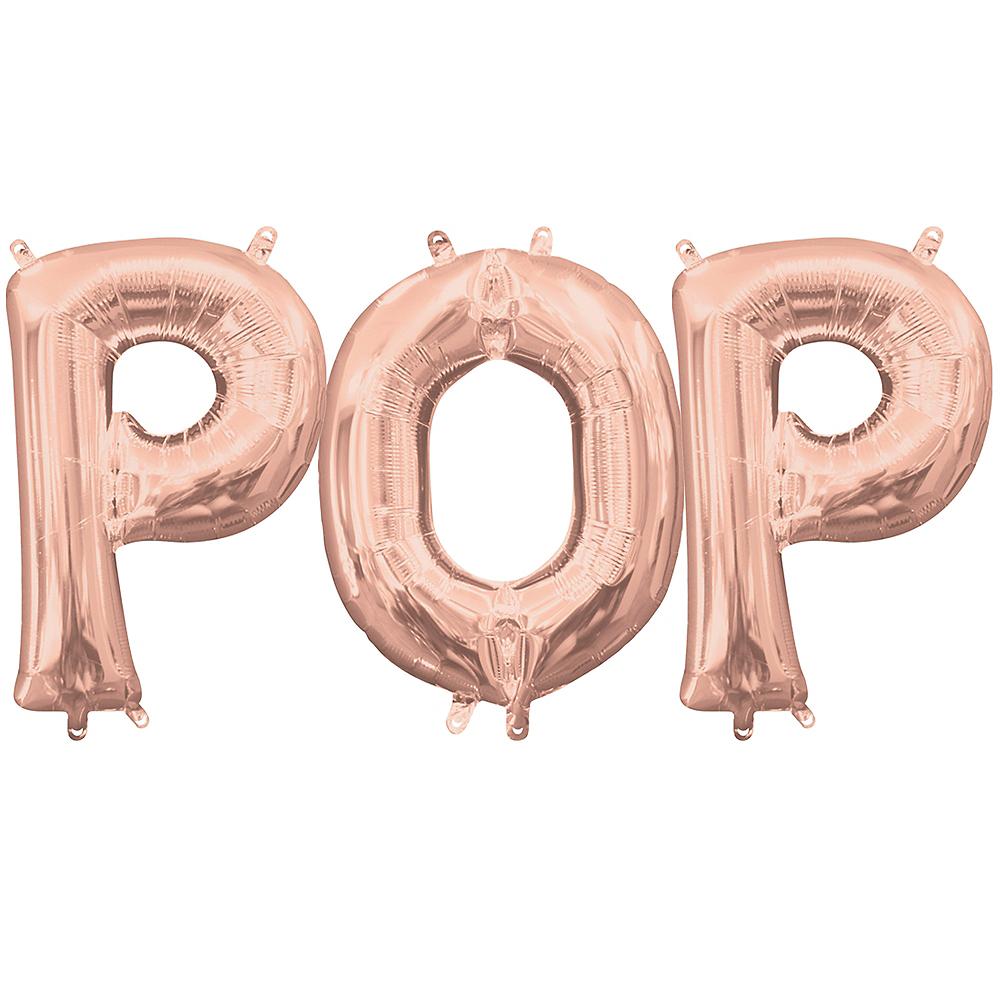 Air-Filled Rose Gold Pop Balloon Kit Image #1