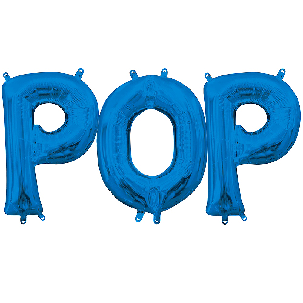 Air-Filled Blue Pop Balloon Kit Image #1