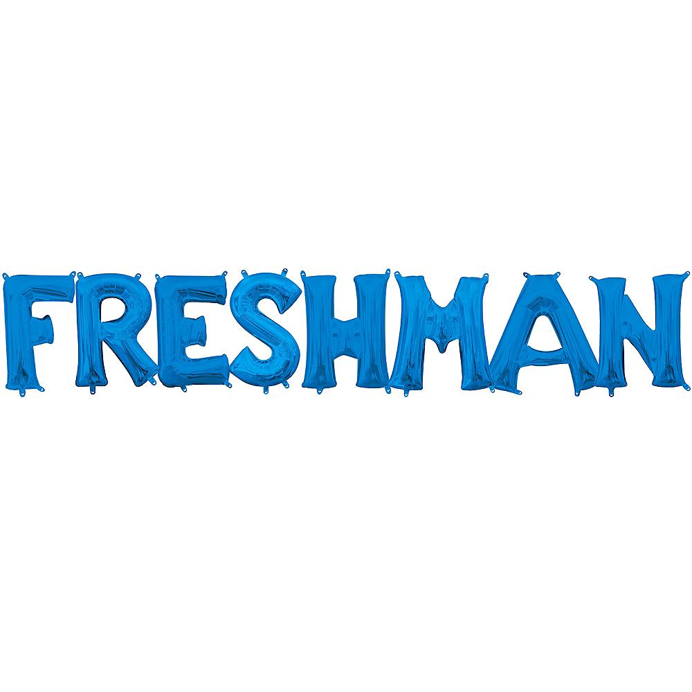Air-Filled Blue Freshman Balloon Kit Image #1