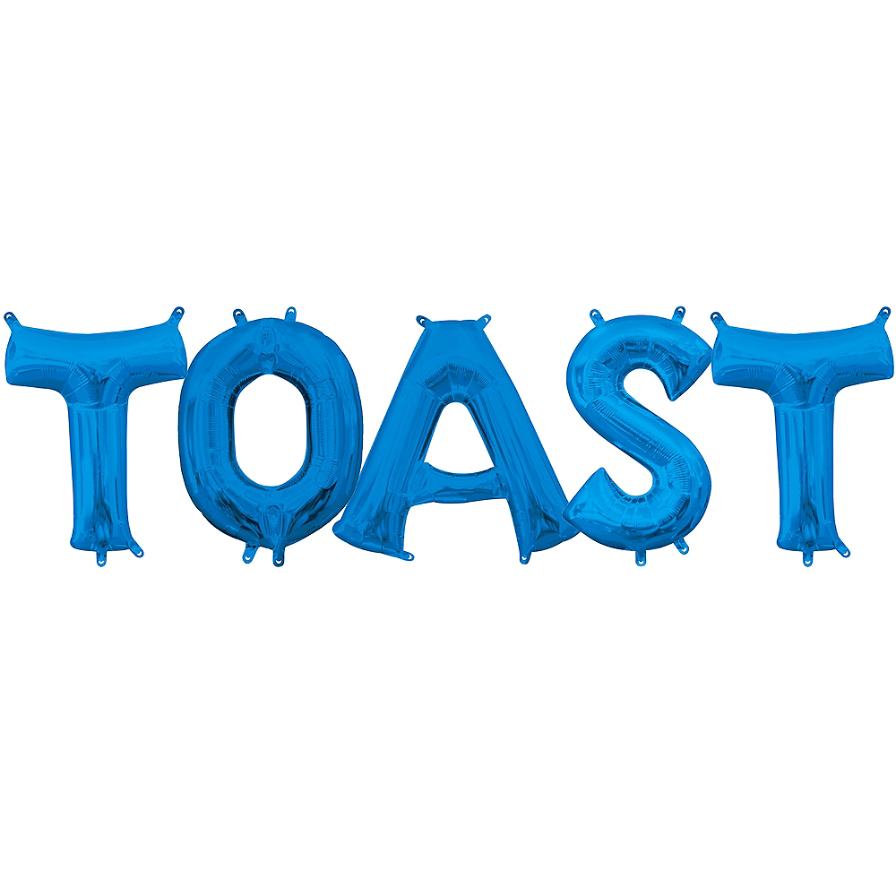 13in Air-Filled Blue Toast Balloon Kit Image #1