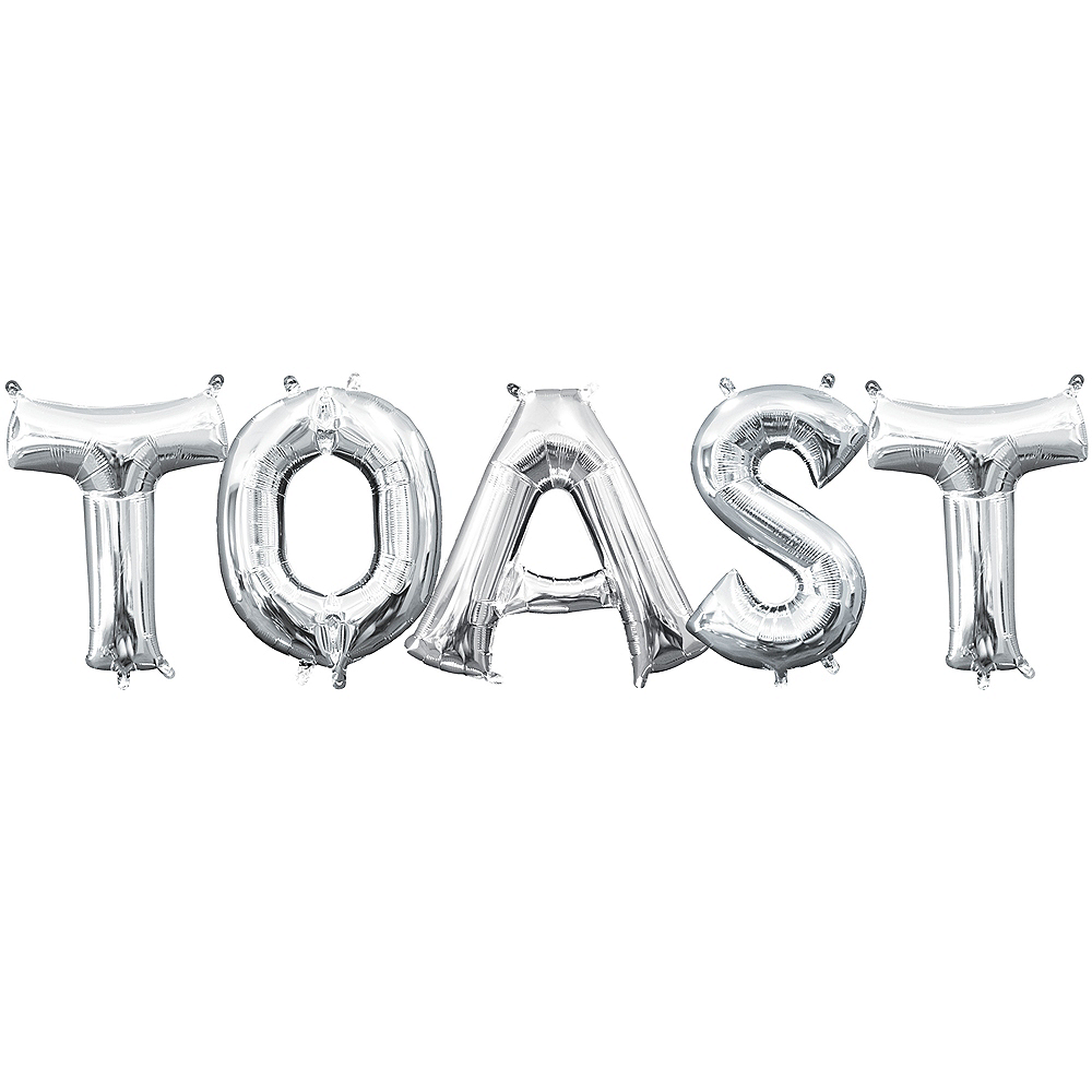 Air-Filled Silver Toast Balloon Kit Image #1
