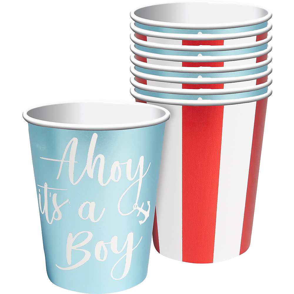 Ginger Ray Nautical Baby Shower Cups 8ct Image #1