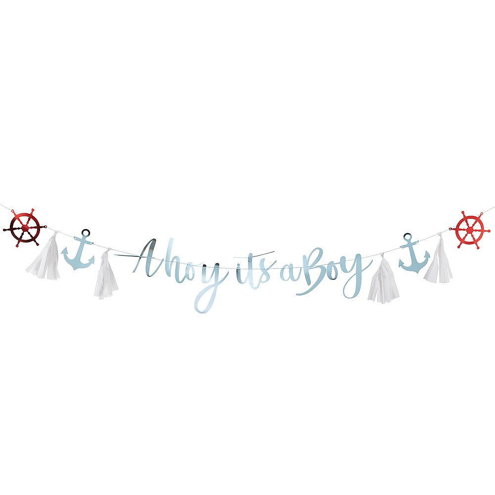 Ginger Ray Nautical Baby Shower Banner Image #1