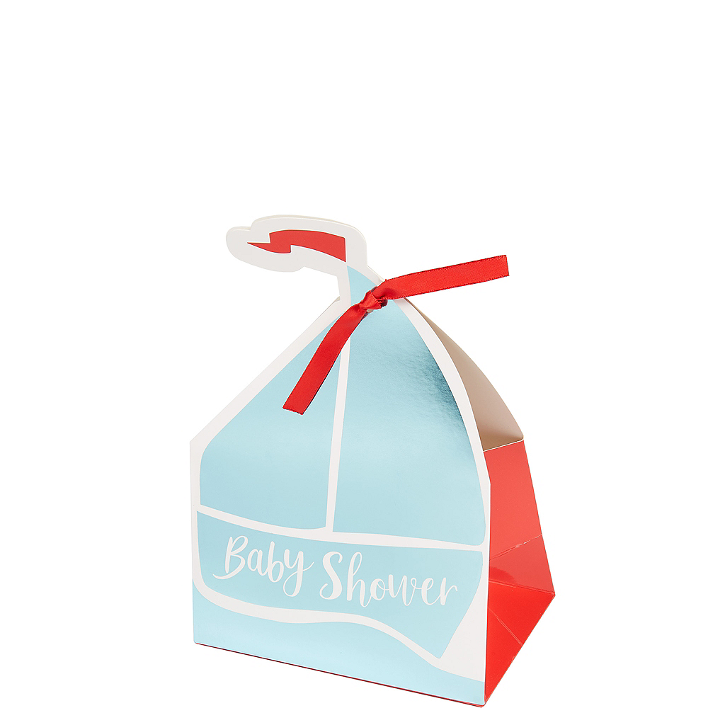 Nav Item for Ginger Ray Nautical Baby Shower Favor Boxes 8ct Image #1