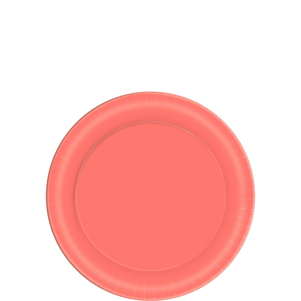 Bright Coral Tableware Kit for 40 Guests Image #2