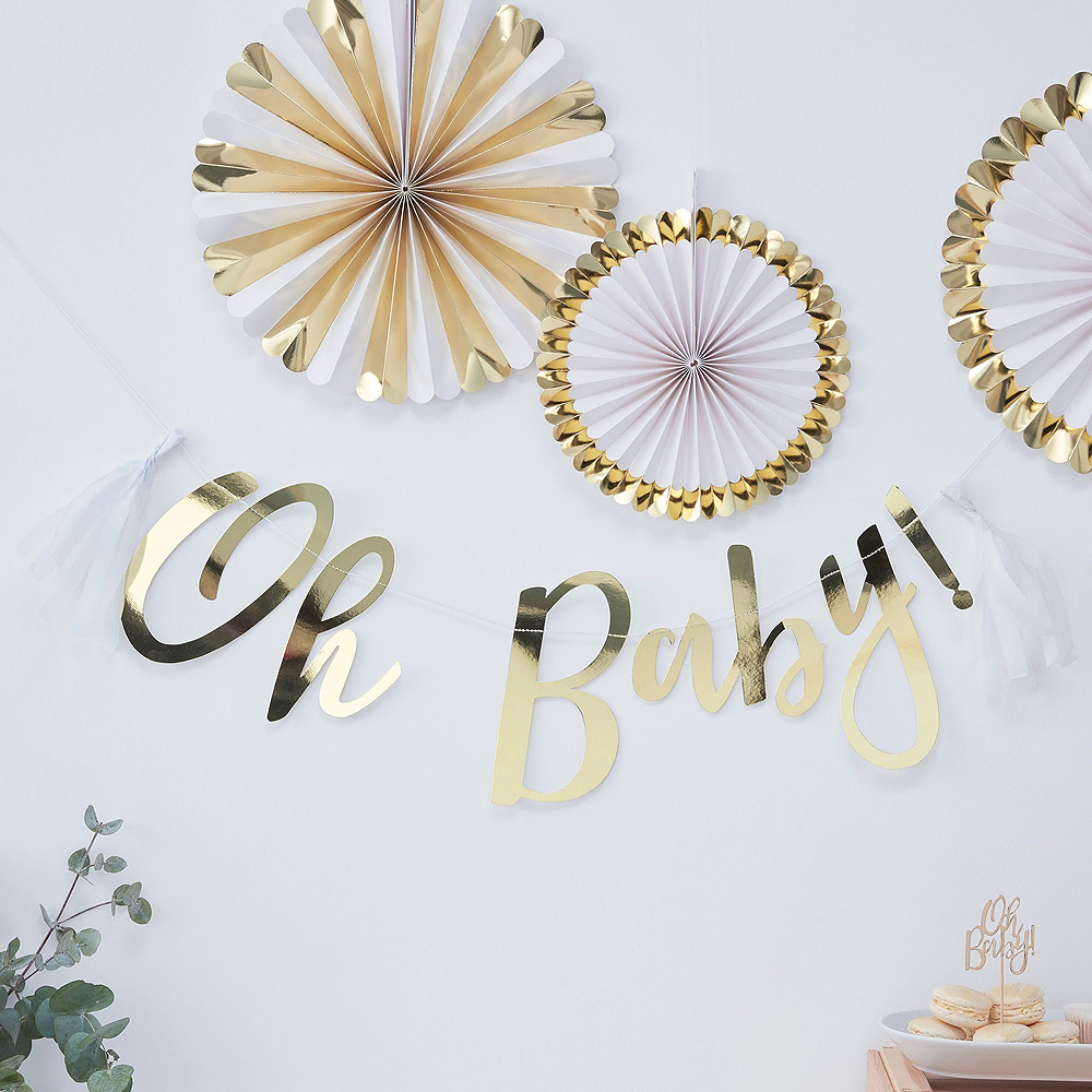 Oh Baby Baby Shower Tableware Kit for 16 Guests Image #8