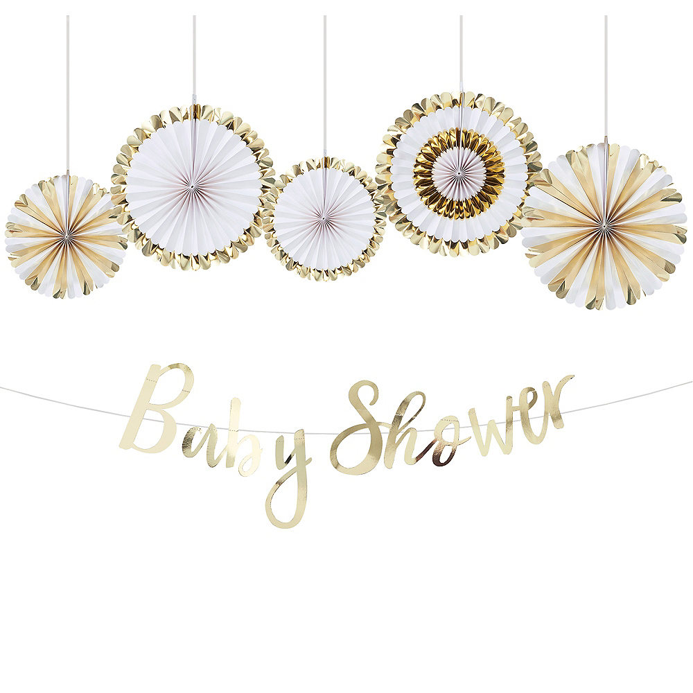 Metallic Gold Baby Shower Decorating Kit Image #1