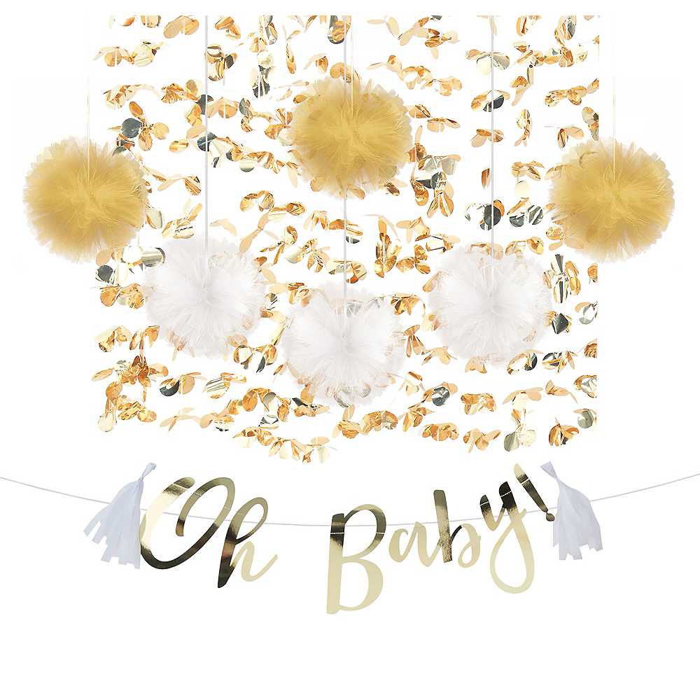 Oh Baby Baby Shower Backdrop Kit Image #1