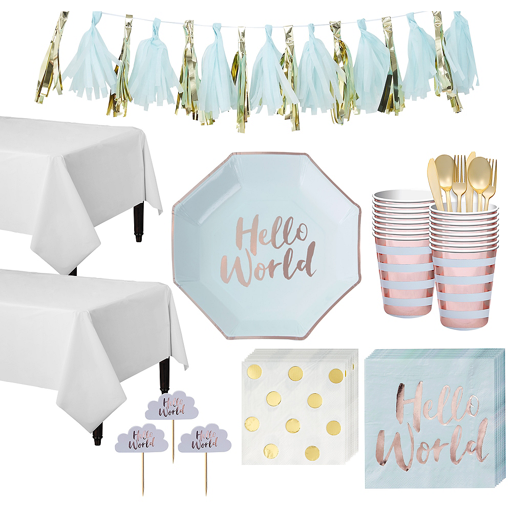 Hello World Tableware Kit for 16 Guests Image #1