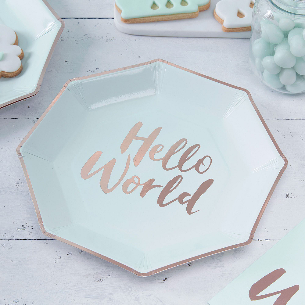 Super Hello World Baby Shower Party Kit for 32 Guests Image #2