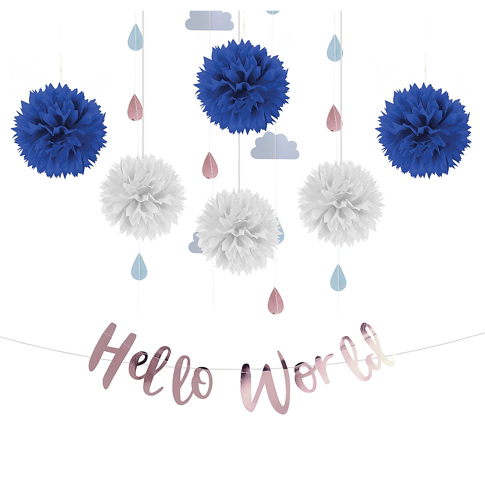 Hello World Baby Shower Backdrop Kit Image #1