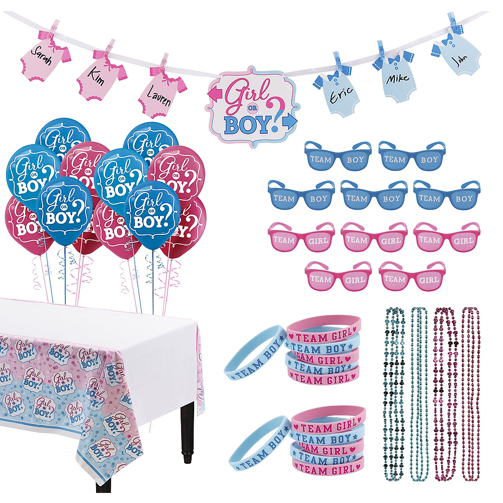 Girl or Boy Gender Reveal Party Activity Kit Image #1