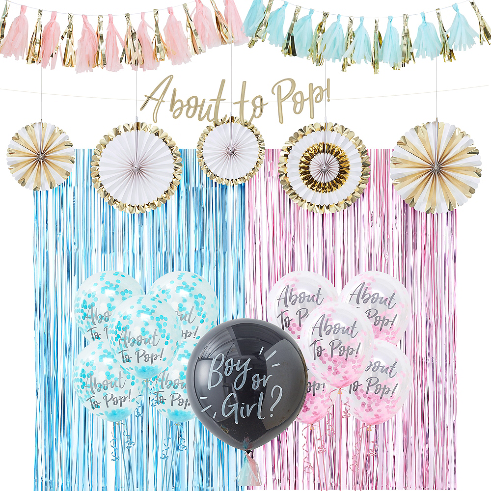 About to Pop Gender Reveal Party Balloon Kit Image #1