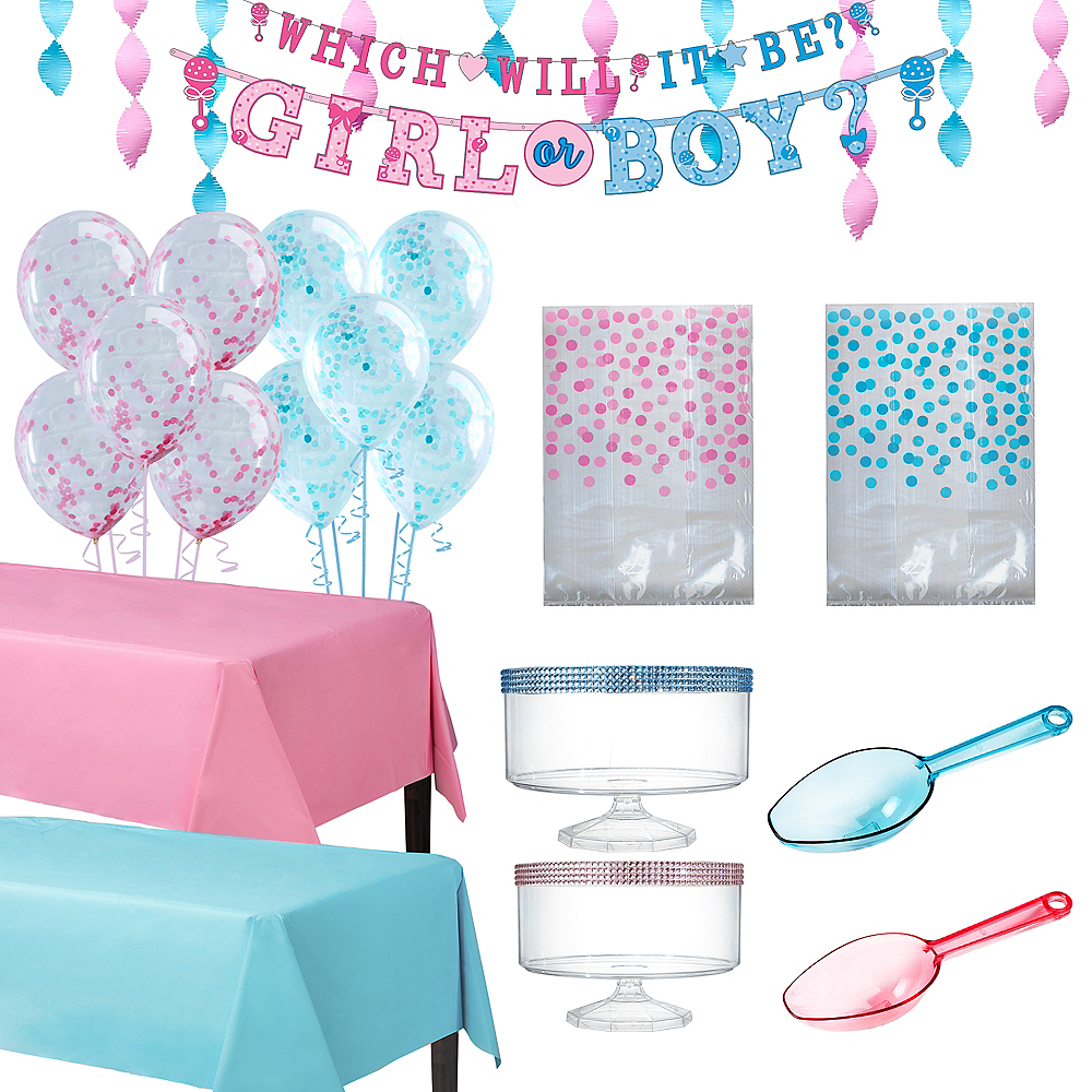Gender Reveal Party Treat Table Decorating Kit Image #1