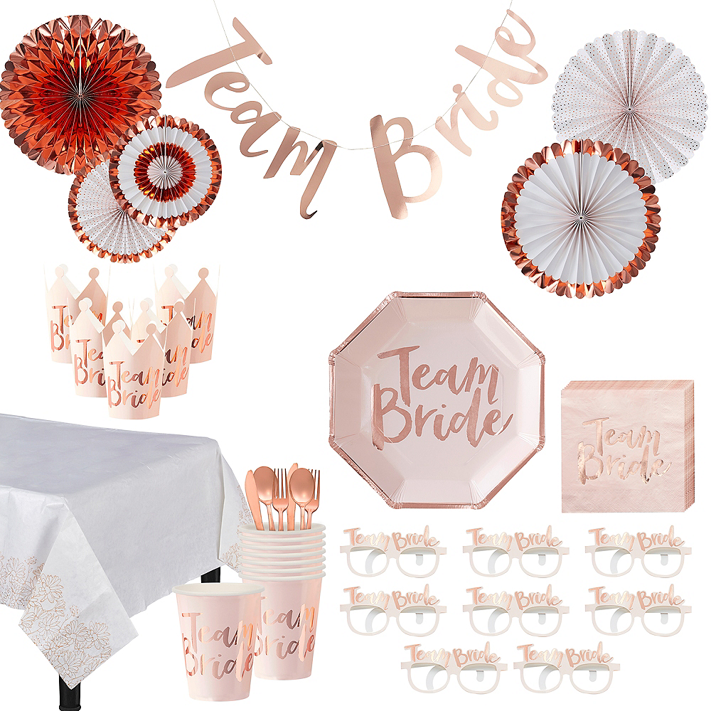 Ultimate Team Bride Bridal Shower Party Kit for 32 Guests Image #1