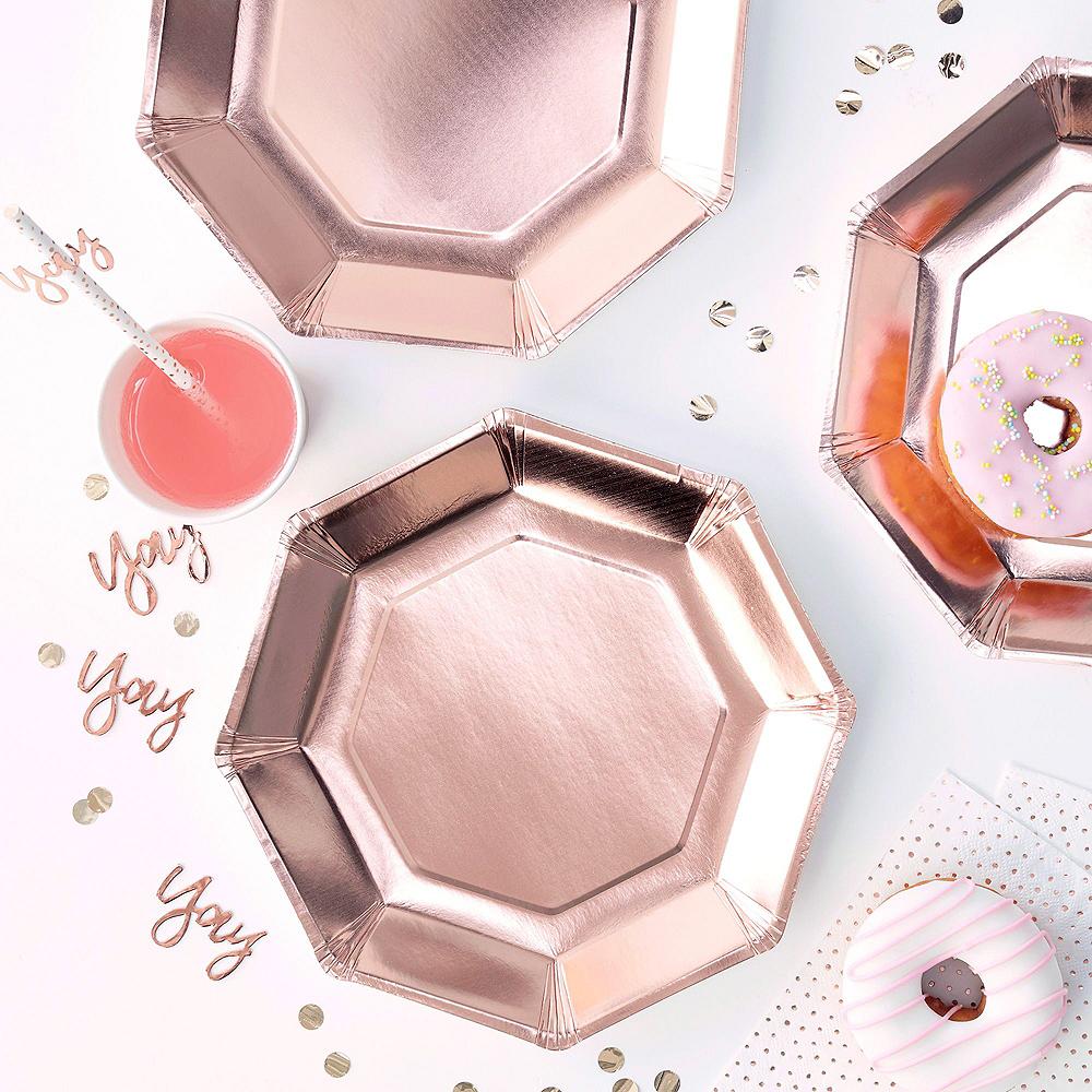 Rose Gold Bridal Shower Tableware Kit for 32 Guests Image #2