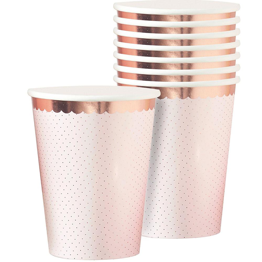 Rose Gold Bridal Shower Tableware Kit for 32 Guests Image #5