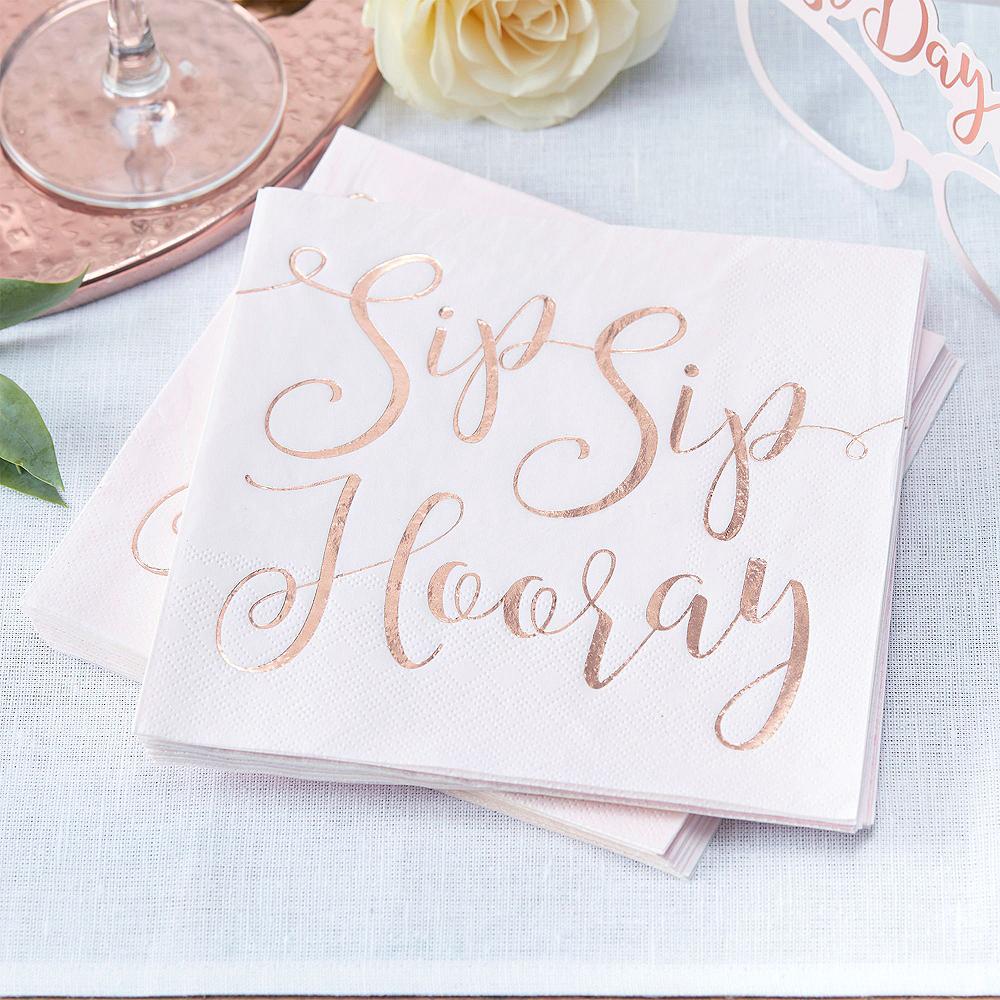 Rose Gold Bridal Shower Tableware Kit for 32 Guests Image #6