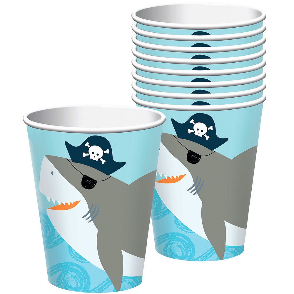 Pirate Shark 1st Birthday Tableware Kit for 36 Guests Image #6