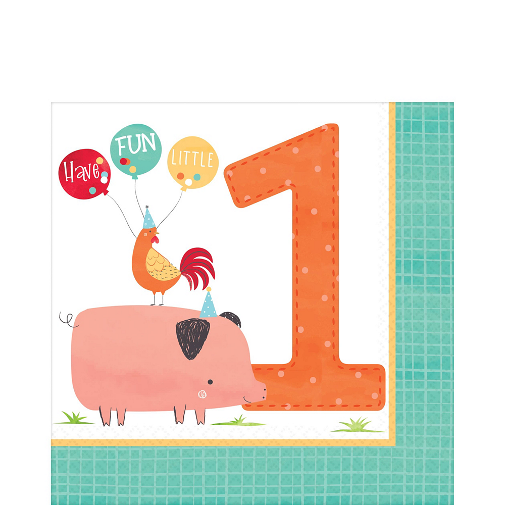 Friendly Farm 1st Birthday Tableware Kit for 36 Guests Image #5