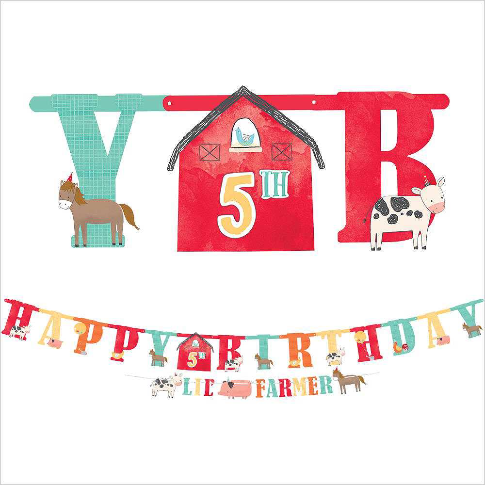 Friendly Farm 1st Birthday Tableware Kit for 36 Guests Image #9