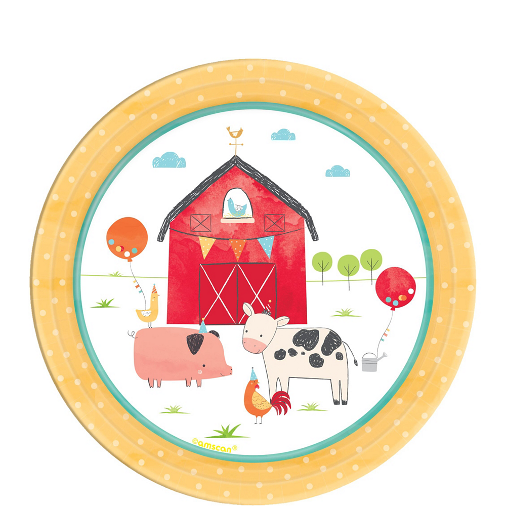 Friendly Farm 2nd Birthday Tableware Kit for 36 Guests Image #2