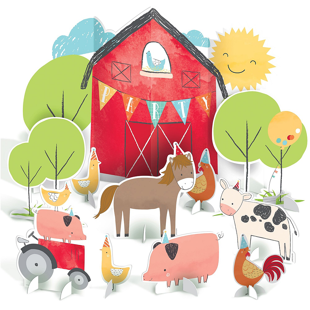 Friendly Farm 2nd Birthday Tableware Kit for 36 Guests Image #10