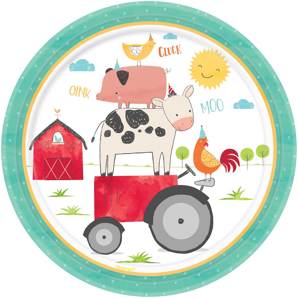Friendly Farm 3rd Birthday Tableware Kit for 18 Guests Image #3