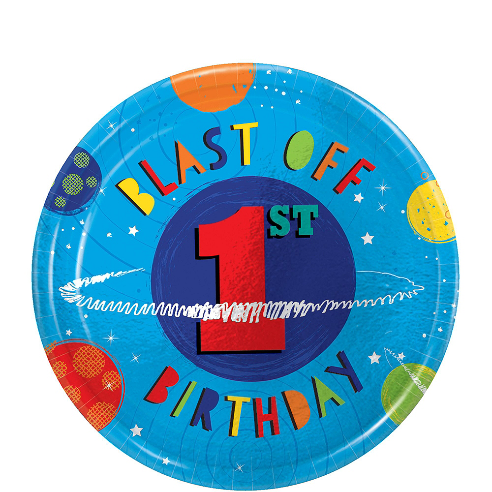 Super Blast Off 1st Birthday Party Kit for 32 Guests Image #2