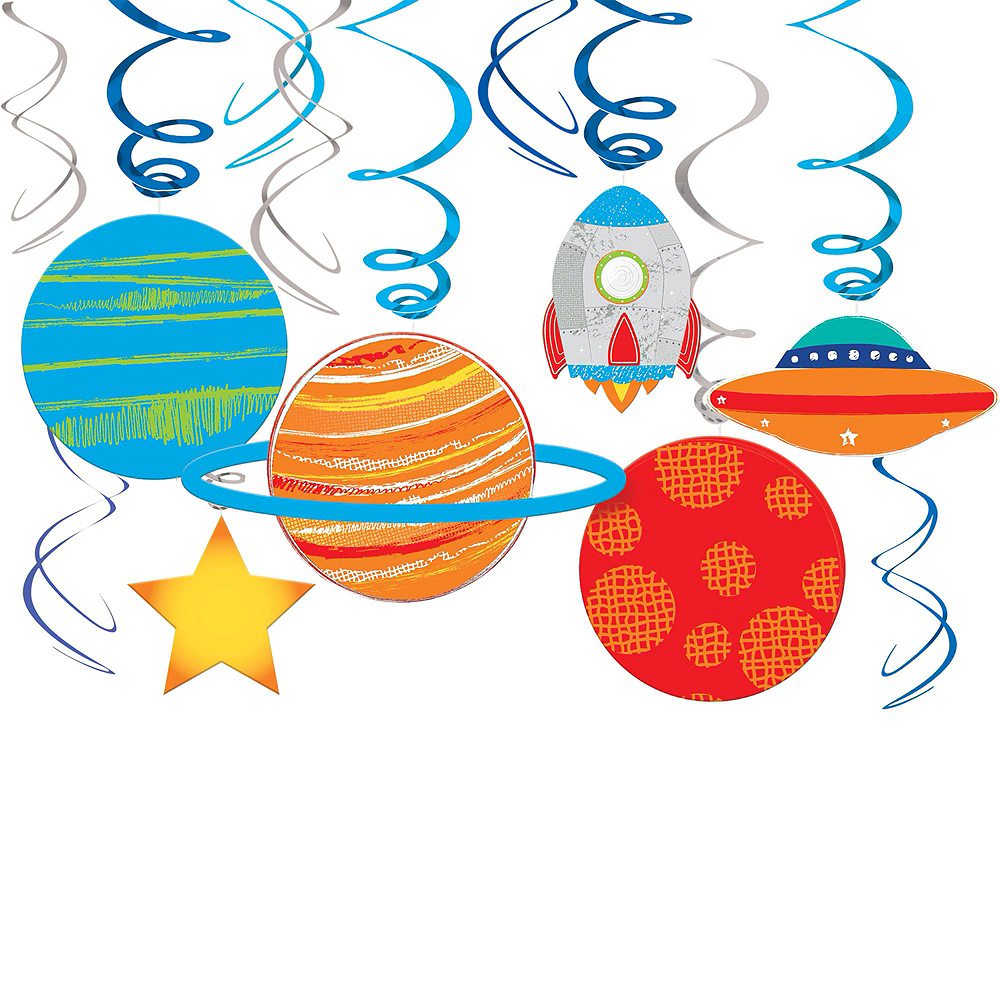 Super Blast Off 1st Birthday Party Kit for 32 Guests Image #9