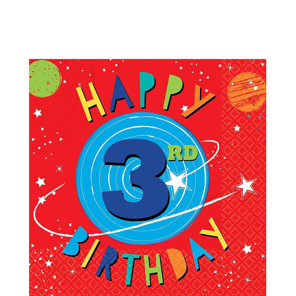 Blast Off 3rd Birthday Party Kit for 16 Guests Image #5